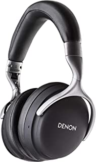 Denon AH-GC25W Premium Wireless Headphones with aptX Bluetooth | Hi-Res Audio Quality | Up to 30 hours of Wireless Use | Designed for Comfort | Battery-saving Auto-Standby Mode | Black