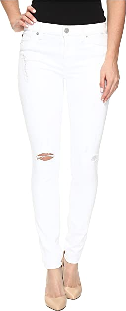 Hudson Nico Mid-Rise Super Skinny in Strife/White Distress