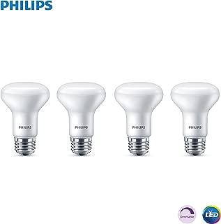 Philips LED 532937 LED Dimmable R20 Flood Bulb 450-Lumen, 5000-Kelvin, 6 (45-Watt Equivalent), E26 Base, Frosted, Day Light, 4 Pack