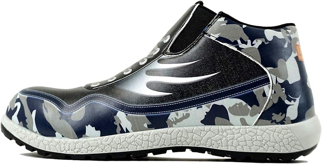 どっちでも哲学ミリメートル安全靴 防水 スニーカー ミドルカット 3Dプリント LO-006