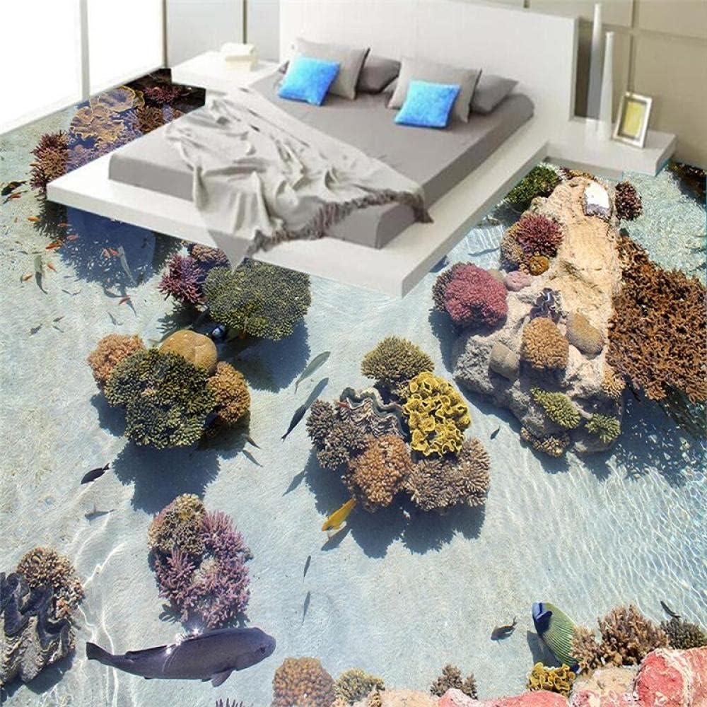 Modern 3D Floor Painting Bathroom Now free shipping Courier shipping free shipping Non- Art HD Coral Mural