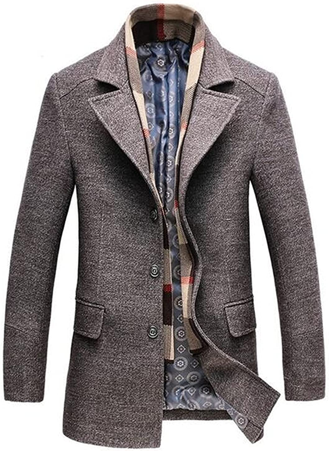 Men Wool Coats Autumn Winter Casual Thick Warm Jackets Single Button Outwear Mens Jackets And Coats