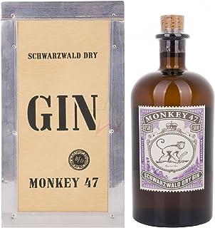 Monkey 47 Schwarzwald Dry Gin in cassa di legno 47,00% 0,50 Liter