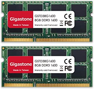 Gigastone DDR3 16GB (8GBx2) 1600MHz PC3-12800 CL11 1.35V SODIMM 204 Pin Unbuffered Non-ECC لوحدة ذاكرة الكمبيوتر المحمول R...