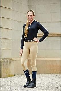 Dublin Performance Flex Knee Patch Riding Tights Beige Ladies 30