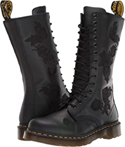 Dr martens mayer lace to toe boot black smooth + FREE