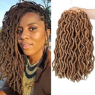 6 Packs Nu Locs Crochet Hair 12inch Bo Locs Crochet Hair 100% Premium Fiber Curly Faux Locs African Roots Dreadlock Synthetic Braiding Hair Extensions (20 Roots/Pack) #27