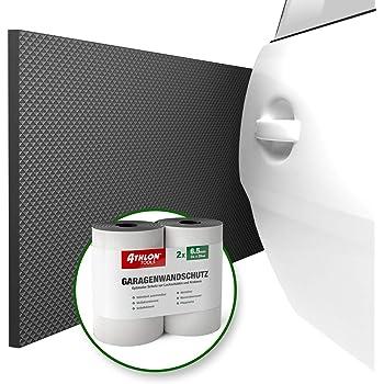 ATHLON TOOLS 2x FlexProtect Garagen-Wandschutz, je 2 m lang, Extra Dicker Auto-Türkantenschutz, Selbstklebend, Wasserabweisend