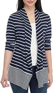 Women's Petite Flyaway Stripe Cardigan