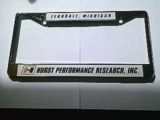 BBT Hurst Performance Research License Plate Frame 12