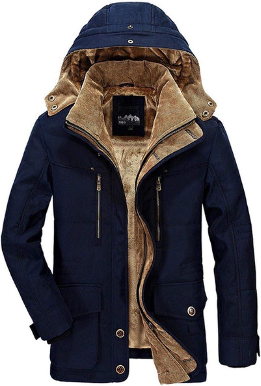 Warm Thick Windbreaker Fleece Cotton-Padded Parkas Military Overcoat