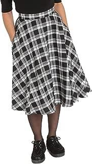 Hell Bunny Manchester Women's Plaid High Waist 1950's Inspired Swing Skirt