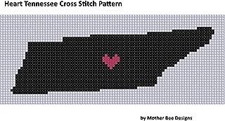 Heart Tennessee Cross Stitch Pattern