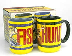 "American Expedition""HUNT/FISH"" Four-Letter Word Set of Coffee Mugs (Set of Two)"