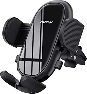 Mpow Car Phone Mount, Air Vent Phone Holder with Stable Clip and Dual Release Button, Adjustable Car Mount Feet Compatible...