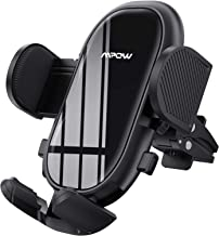 Mpow Car Phone Mount, Air Vent Phone Holder with Stable Clip and Dual Release Button, Adjustable Car Mount Feet Compatible with iPhone 12 SE 11 Pro Max XS XR, Galaxy Note 20 S20 S10 and More