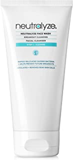 Neutralyze Moderate To Severe Acne Face Wash 2.0 - Maximum Strength Facial Cleanser For Acne Prone Skin with 2% Salicylic Acid + 1% Mandelic Acid + Nitrogen Boost Skincare Technology