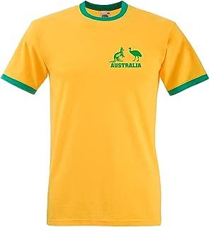Sports Crazy Unisex Australia National Cricket/Rugby Team T Shirt