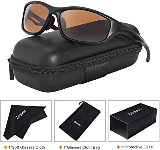 Zealme Sunglasses for Men HD Polarized Mens Sports Sunglasses With TR90 Light Frame