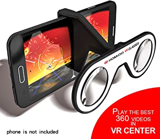 Homido Mini Virtual Reality Glasses for Smartphone Foldable VR Headset Compliant with iPhone & Android Cell Phone Vr Games and 3D Movies