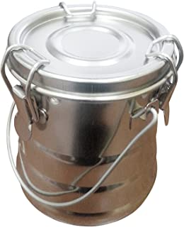 Stainless Steel Brush Washer & Solvent Container with Leak Proof Gasket, Equipped with a Removable Screen Insert, Rust-Proof, Nickel-Plated, Size: 25 Oz