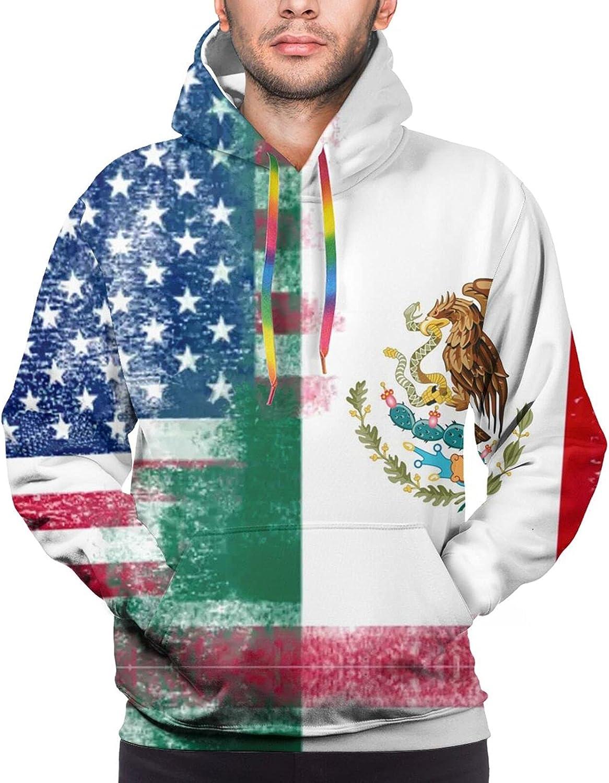 Hoodie For Teens Boys Girls Mexican American Flag Hoodies Fashion Sweatshirt Drawstring