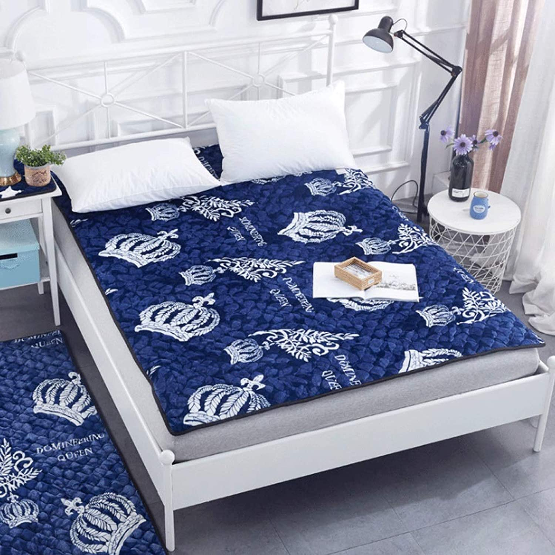Non-Slip Thick Tatami Mattress Foldable Student Single Double Sleeping Mat (color   4, Size   100x200cm)