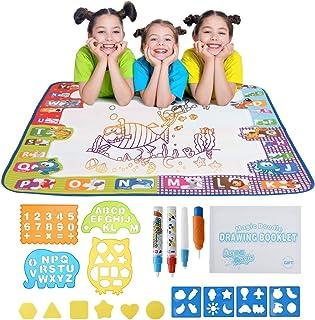 """Water Doodle Mat with Magic Pens, Kids Doodle Pad, No Mess Coloring (30.3"""" x 30.3"""")"""