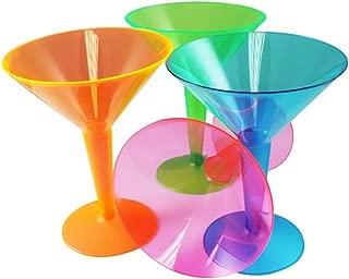 (クリエイティブ・パーティー) Creative Party アソート プラスチック製 マティーニグラス カクテルグラス 12個セット