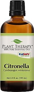 Plant Therapy Citronella Essential Oil 100 mL (3.3 Ounce) 100% Pure, Undiluted, Therapeutic Grade