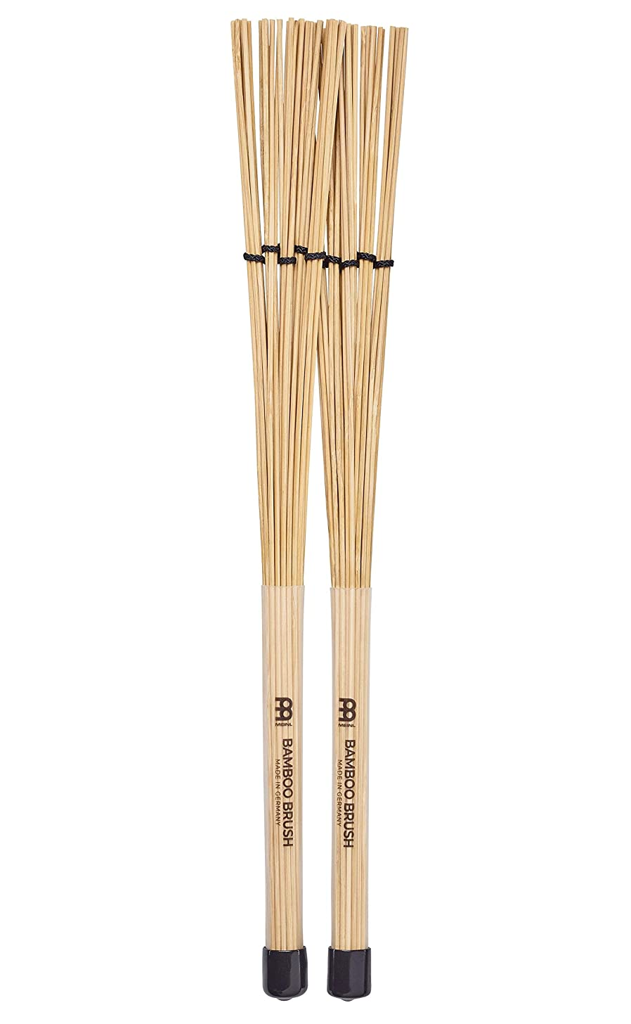 Meinl Stick & Brush Bamboo Brush with Fanned Dowels and Adjustable Rings, Standard Size - MADE IN GERMANY (SB205)
