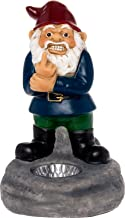Solar Powered Middle Finger Lawn Gnome - Light Up Home Garden Statue by GreenLighting