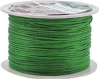 Mandala Crafts 1mm 109 Yards Jewelry Making Beading Crafting Macramé Waxed Cotton Cord Thread (Kelly Green)
