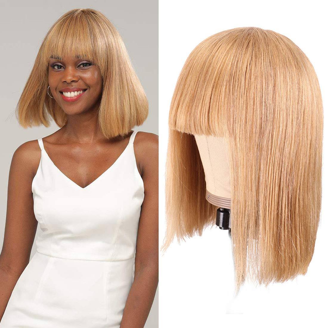 Blonde Wigs for Black Large-scale sale Women #27 Short Bob Human Now on sale Hair