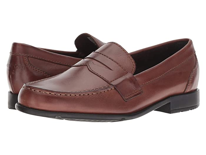 1950s Mens Shoes: Saddle Shoes, Boots, Greaser, Rockabilly Rockport Classic Loafer Lite Penny Dark Brown Mens Slip-on Dress Shoes $69.95 AT vintagedancer.com