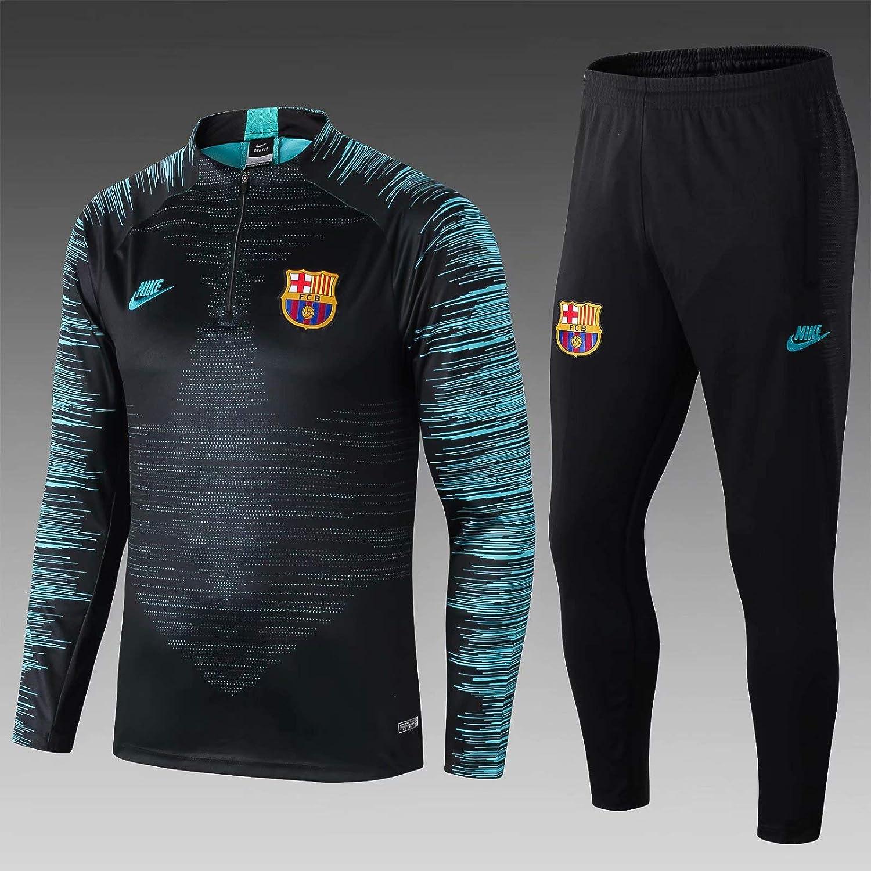 Ensemble Surv/êtement Sport FC Barcelone Noir et Vert Mens//Girls Dry-Cell Saison 2020-2021