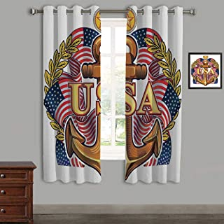 LIFEDZYLJHJY Polyester Curtains Back Tab and Rings top Outdoor Curtains 2 Panels,105