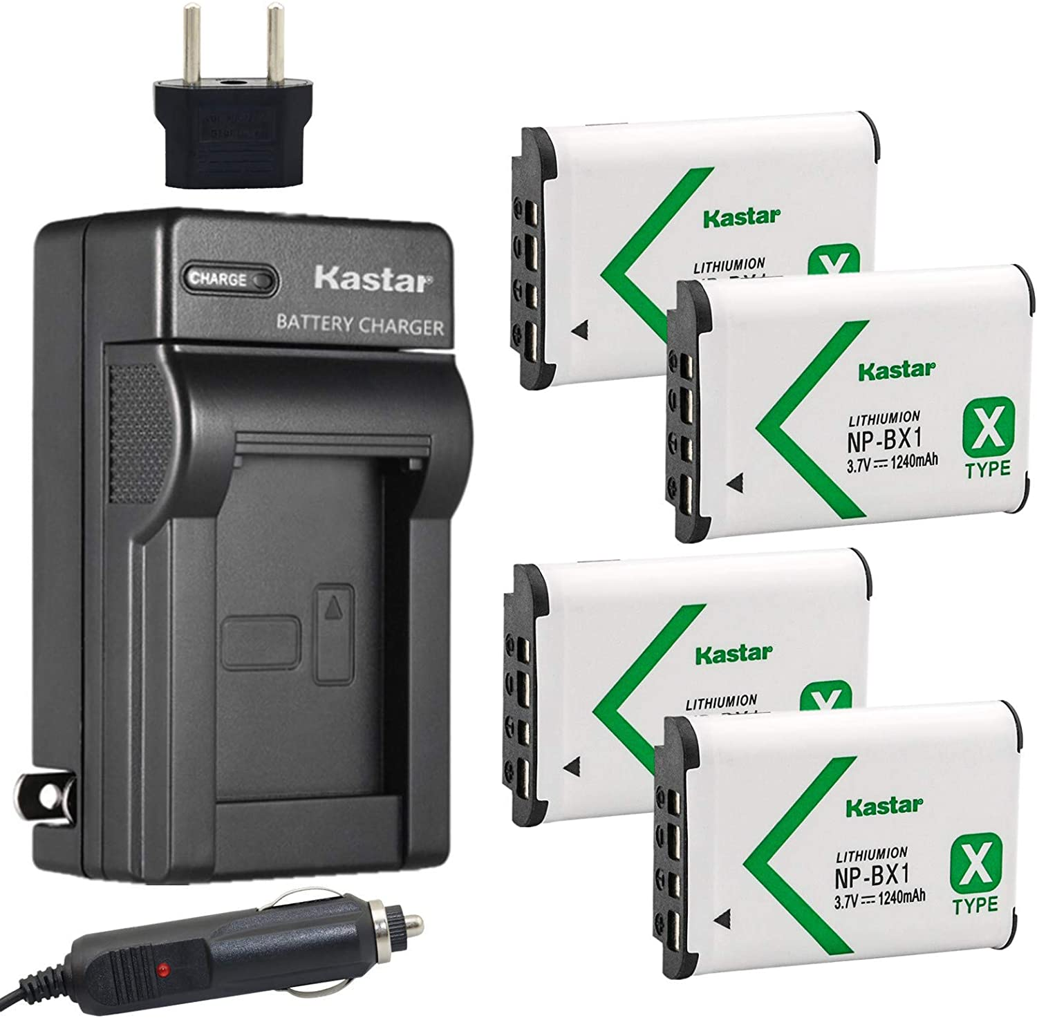 Kastar Battery 4-Pack and Charger Replacement Albuquerque Mall Sale special price for NP-BX1 Sony M