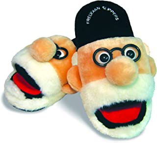 The Unemployed Philosophers Guild Freudian Slippers - Comfy Plush Slip - On Footwear - Size Large