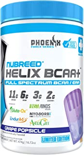 Nubreed Helix BCAA+ | Limited Edition | Delicious Full Spectrum BCAA/EAA + Electrolyte Recovery Powder | Vegan Friendly | ...