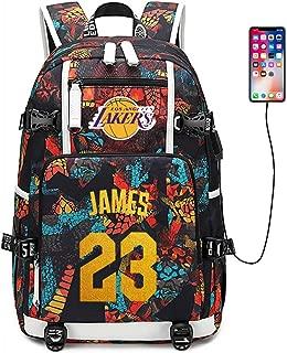 FANwenfeng Basketball Player Star James Multifunction Backpack Travel Student Backpack Fans Bookbag for Men Women