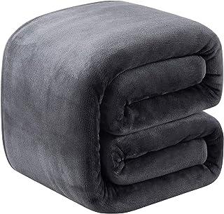Richave Plaid Couverture Polaire Epaisse 220x240cm Microfibre Polyester Doux et Chaud Couvre-Lit Sofa Jete de Canape Effet...