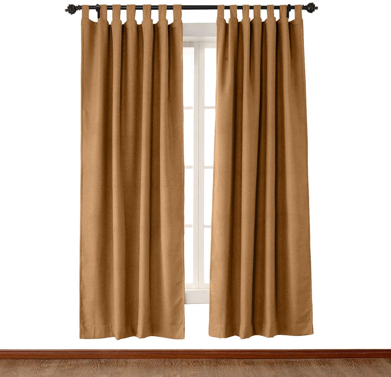 Luxury 永遠の定番モデル Textured Faux Linen 売店 Window Curtain W Orange L 96