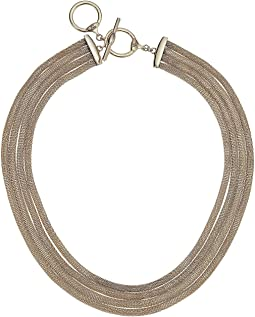"17"" Multi Row Collar Necklace"