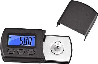 Samyo Professional High Precise Digital Mini Turntable Stylus Force Scale Gauge Tester 0.01g Blue LCD Backlight for Tonearm Phono Cartridge Jewellery Scale Weighing