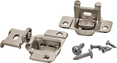 Amerock BP2811J23-14 1/2-Inch Overlay 2-Way Adjustable Concealed Matrix Blum Hinges, Nickel, 1 pair
