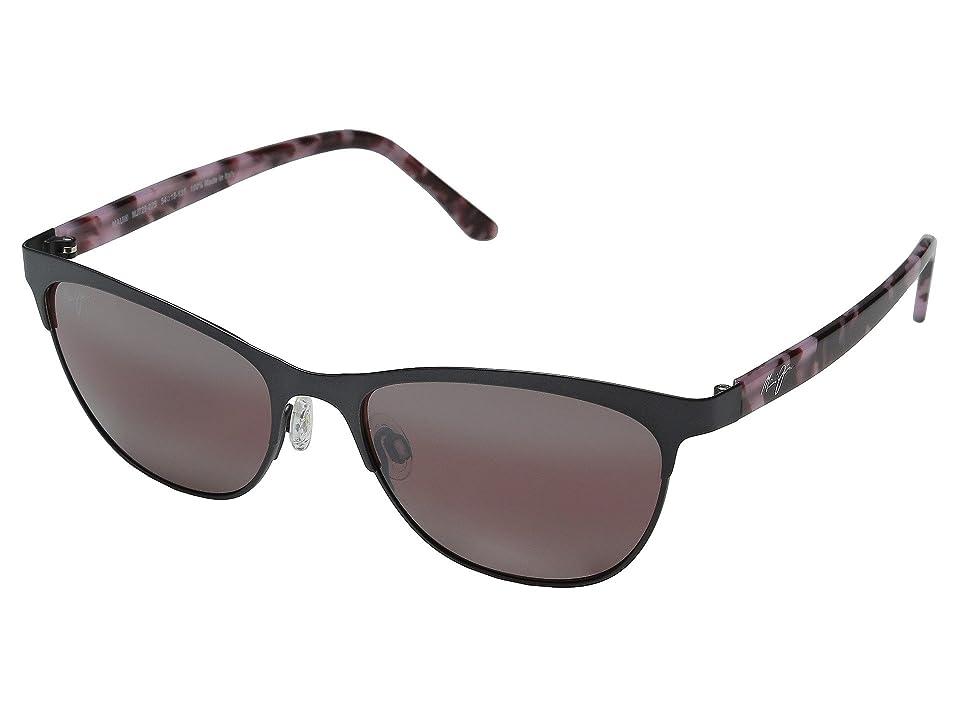 Maui Jim Popoki (Satin Dark Gunmetal) Fashion Sunglasses
