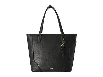 Tumi Stanton Nonie Tote (Black/Gold) Handbags