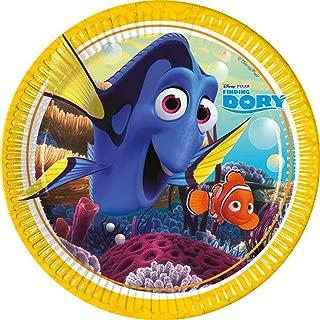 Disney 48398 Finding Dory Party Decoration Plates Paper, 23 cm/Large