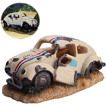 Aquarium Deko Transporter Hippie Bus Bulli Auto T1 Autowrack Wrack Aquarien Deko Amazon De Haustier